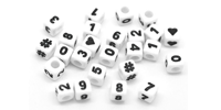 Бусины цифры и буквы