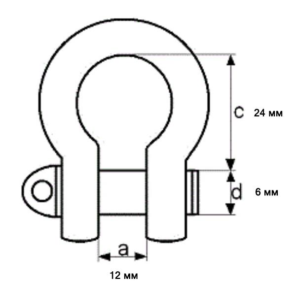 Схема размеров застежка Омега М