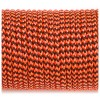 Paracord 100 orange black wave #377-2