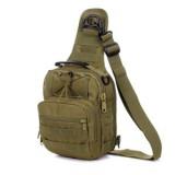 Тактическая сумка почтальон D5-1011, wolf brown