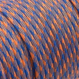 Paracord 550 blue orange camo #124