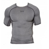 Компрессионная Футболка Under Armour HeatGear Armour Short Sleeve Compression Shirt Gray