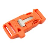 """5/8"""", оранжевый, со свистком и огнивом, ровный, фастекс пластиковый"""