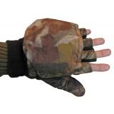 Перчатки флисовые с откидными пальцами