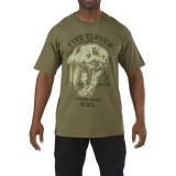 Футболка тактическая с рисунком 5.11 Apex Predator T-Shirt Olive