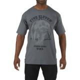 Футболка тактическая с рисунком 5.11 Apex Predator T-Shirt Charcoal