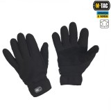 M-Tac перчатки флис Winter Tactical Windblock, black