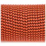 Paracord 100 orange black wave #377-2