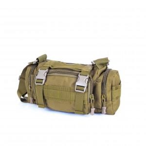 Тактическая плечевая сумка D5-1018, wolf brown