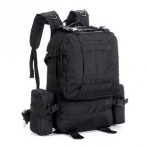 Большой тактический рюкзак 3-day Assault Pack D5-1016, black, 45л
