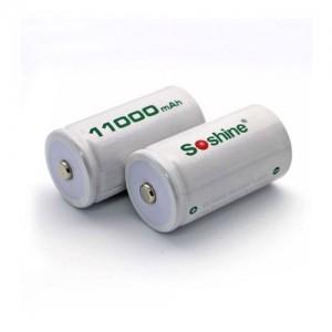 Аккумулятор никель-металлогидридный Ni-MH RTU D (R20) Soshine 1.2V (11000mAh)