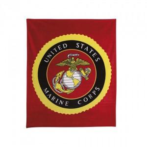 Одеяло Rothco Military Insignia Fleece Blanket USMC