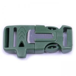 """5/8"""", OD green, со свистком и огнивом, ровный, фастекс пластиковый"""
