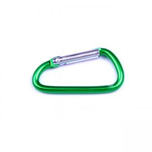 D-образный карабин для снаряжения, green