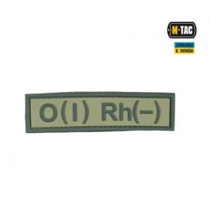 M-TAC нашивка группа крови O(I) RH(-) ПВХ Олива
