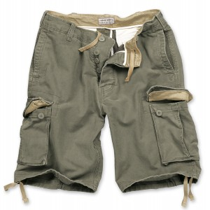 Шорты SURPLUS VINTAGE SHORTS WASHED Olive