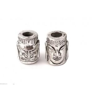 """Бусина """"Двуликий"""", серебро"""