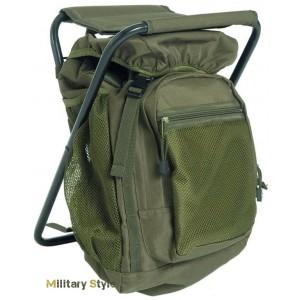 Рюкзак с раскладным стульчиком (Olive) 20л.
