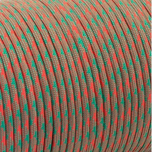 Paracord 550 emerald crimson camo #138