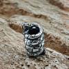 """Бусина для темляка """"Змея"""", ручного литья с серебряным покрытием"""