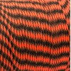 Paracord 550, safety orange black camo #412