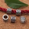 Бусина Цилиндр тибетский, металлическая, античное серебро. Размер 7*8 мм. Отверстие 6 мм.