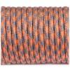Paracord 550 grey orange quarter #344