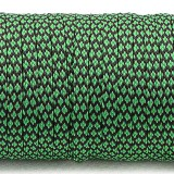 Coreless Paracord, emerald green snake #265-H, (полый шнур)