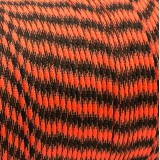 Paracord 550, safety orange black camo #412