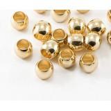 Бусина из латуни Бочонок, покрытие золотом