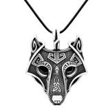 Подвес Голова волка. Металл. Цвет: Античное серебро