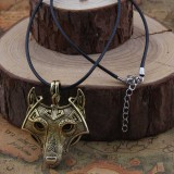 Подвес Голова волка. Металл. Цвет: Античная бронза