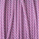 Paracord 550, super reflective 50/50 snake bright pink #r16NR015S (светоотражающий)