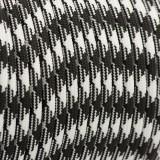 РРМ cord 6mm, black white #037-PPM6