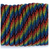 Paracord 550 black rainbow camo #064