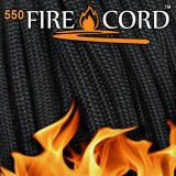 "Paracord 550 ""Flame Cord""  black"