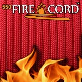 "Paracord 550 ""Flame Cord"" solid red"