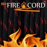 "Paracord 550 ""Flame Cord"" thin red line"