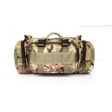 Тактическая плечевая сумка D5-1018, cp camo