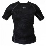 Компрессионная Футболка  Under Armour HeatGear Armour Printed Short Sleeve Compression Shirt Black