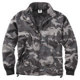Куртка ветровка SURPLUS Windbreaker Basic Black Camo