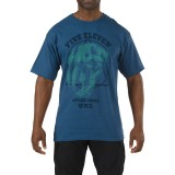 Футболка тактическая с рисунком 5.11 Apex Predator T-Shirt Blue
