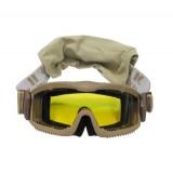 Очки защитные MFH Thunder deluxe с 2 дополнительными стёклами
