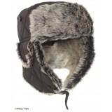 Зимняя шапка-ушанка, black