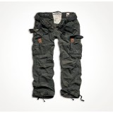 Брюки SURPLUS PREMIUM VINTAGE TROUSERS black camo