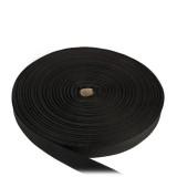 Лента окантовочная, 24 мм, черная полиамидная