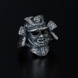 """Бусина для темляка """"Шлем Самурая"""", ручного литья с серебряным покрытием"""