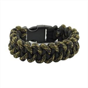 Браслет из паракорда, плетение Пиранья, двухцветный black & coyote black #379
