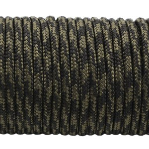 Minicord. Paracord 100 Type I (1.9 mm). black forest #309-type1