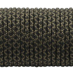 Minicord. Paracord 100 Type I (1.9 mm). black snake #308-type1